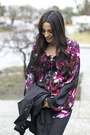 Maroon-floral-target-blouse-black-over-the-knee-franco-sarto-boots