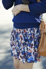 Blue-floral-chiffon-kohls-skirt-navy-simple-forever-21-sweater