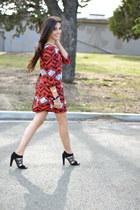 dvf sandals - geometric dress unknown dress