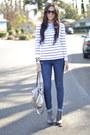 Navy-snakeprint-j-brand-jeans-silver-elliott-lucca-bag