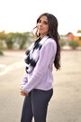 Navy-wax-coated-j-brand-jeans-light-purple-knit-forever-21-sweater
