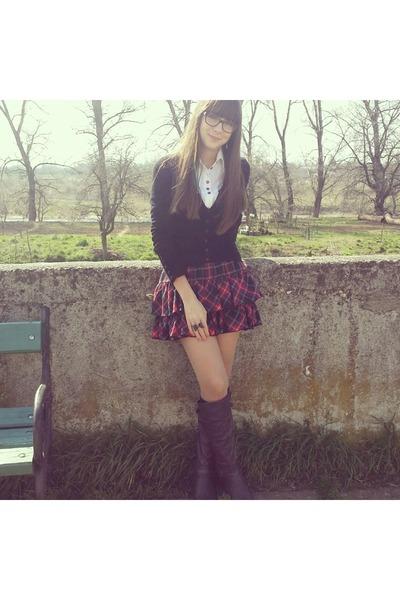 New Yorker skirt - Motivi boots - H&M cardigan
