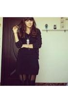 H&M dress - H&M cardigan - Gatta stockings