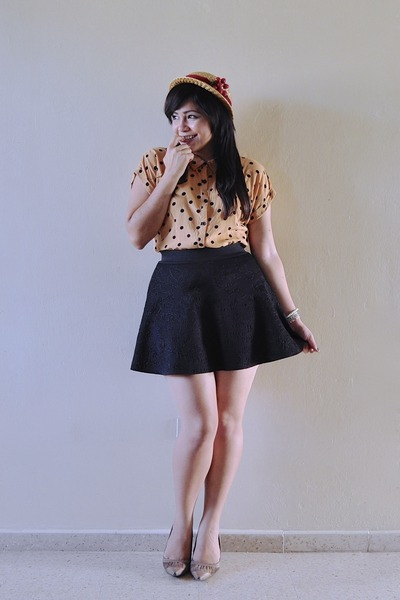 bronze Forever 21 blouse - black Local store skirt