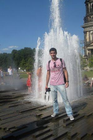 blue pull&bear jeans - brown accessories - pink renuar t-shirt