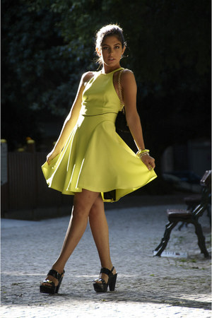 yellow lime love model Style In A Box dress