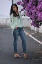 aquamarine Primark shirt