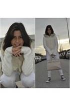 white white Primark jeans - white Stefanel sweater