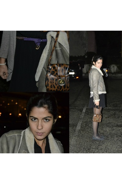 black Zara dress - camel Zara coat - black Calzedonia tights