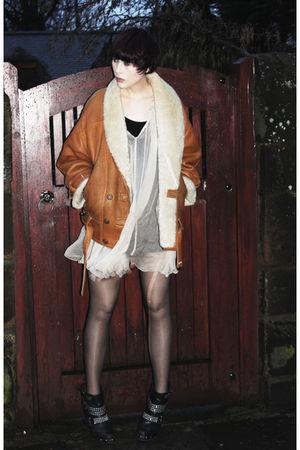 Topshop dress - Kurt Geiger boots