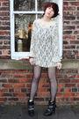 Beige-vintaget-dress