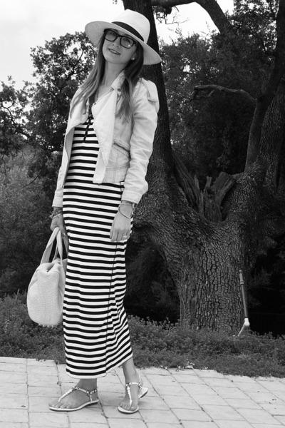 Target dress - H&M hat - denim jacket Club Monaco jacket - Alexander Wang bag -
