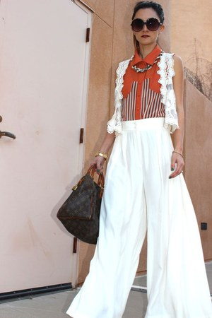 Shop Frankies top - sis vest - Vintage YSL pants