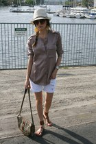 Urban Outfitters hat - Vintage Gucci bag - H&M sunglasses - Gap blouse - sam ede