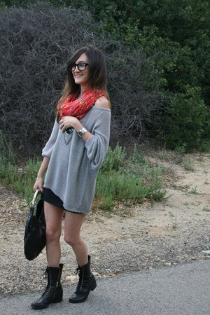Dolce Vita boots - YSL purse - Urban Outfitters skirt - Gucci watch - Warby Park