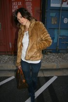 H&M coat - blank nyc jeans - america sweater - Louis Vuitton purse - Natalie B n