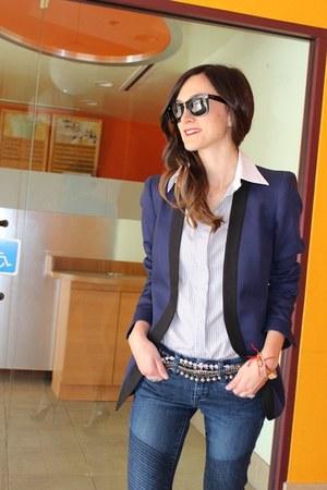 baublebar belt - Blank jeans - Zara blazer - Club Monaco shirt