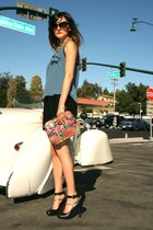 lanvin shoes - Vintage Judith Leiber bag - vintage skirt - Lush top