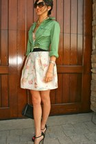 alice mccall dress - Gap shirt - Chanel purse - brian atwood heels