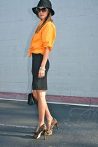 Ralph Lauren top - asos dress - Forever21 hat - Chanel bag