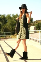 Dolce Vita boots - BB Dakota dress - Forever 21 hat - deux lux purse - Club Mona