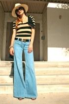 Hudson jeans - H&M hat - Hermes belt - Lush top