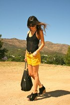 Marc Jacobs purse - Forever21 shorts - Oliver Peoples sunglasses - Hermes belt -