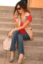 EDUN jeans - Alexander Wang bag - Forever21 vest - Prada heels