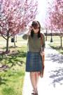 Tawny-ana-shoes-olive-green-thrifted-sweater-tawny-fringe-marshalls-bag
