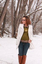 green Mossimo sweater - tawny otk Charlotte Russe boots