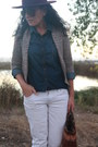 Tawny-studded-forever-21-boots-white-jordache-jeans-maroon-h-m-hat