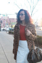 tawny leopard print thrifted coat - gray mary janes Kmart shoes