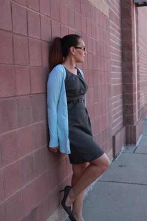 heather gray thrifted dress - aquamarine Target cardigan