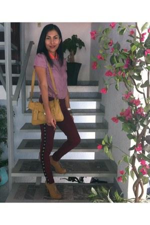 pink bicolorGAP blouse
