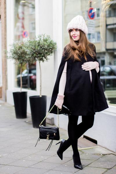 74aa552d84ca black Rebecca Minkoff bag - light pink asos hat - black Zara cape