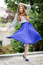blue asos skirt - black Rebecca Minkoff bag