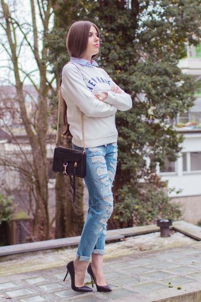 GINA TRICOT jeans - GINA TRICOT shirt - Rebecca Minkoff bag
