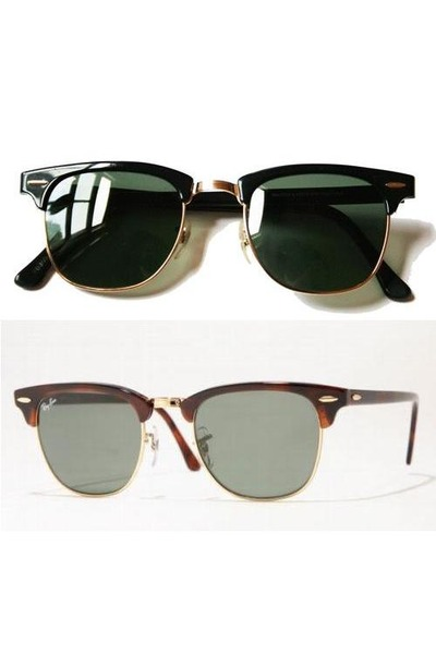 ray ban clubmaster brown or black