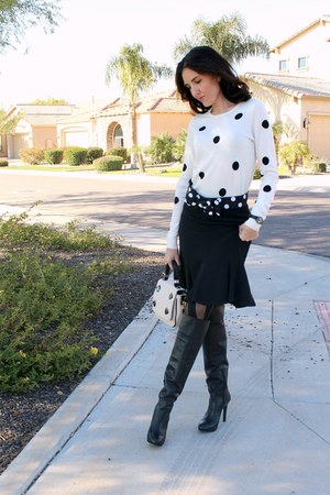 polka dot Belt belt - thigh high Jessica Simpson boots