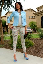 blue BCBG blazer - skinny BCBGeneration pants - platform Marc Fisher heels