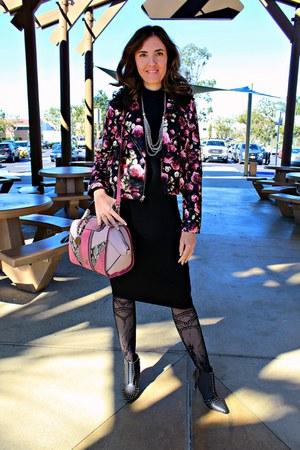 black ankle michael antonio boots - black black shimmer dress