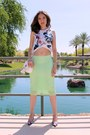 White-tassel-dsw-bag-lime-green-pencil-zara-skirt-white-cropped-zara-top