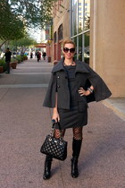 charcoal gray jou jou cape - black Jessica Simpson boots