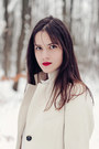 White-sandro-dress-white-sinéquanone-coat-navy-henrik-vibskov-tights