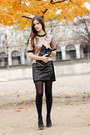 Gold-brocade-marni-top-black-leather-claudie-pierlot-skirt