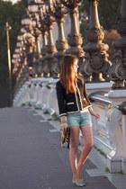 black personal creation jacket - silver Repetto heels