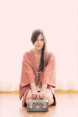 pink kimono vintage jacket