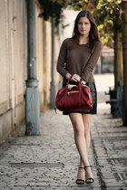 light brown AMERICAN VINTAGE sweatshirt - brick red Chloe bag