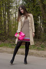Tan-gérard-darel-coat-hot-pink-the-cambridge-satchel-company-bag