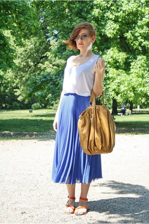Zara skirt - Zara bag - Zara sandals - Zara top - ASH earrings